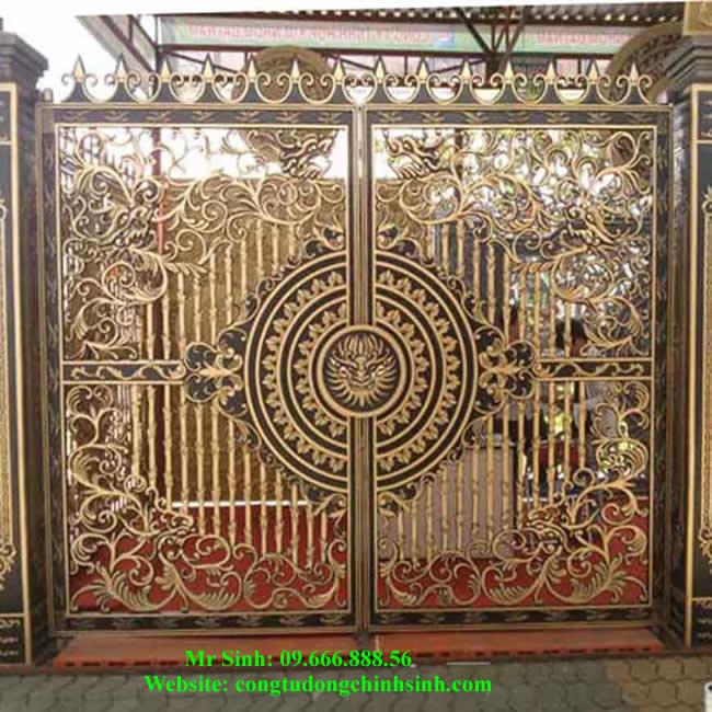 cổng nhôm đúc - C00111