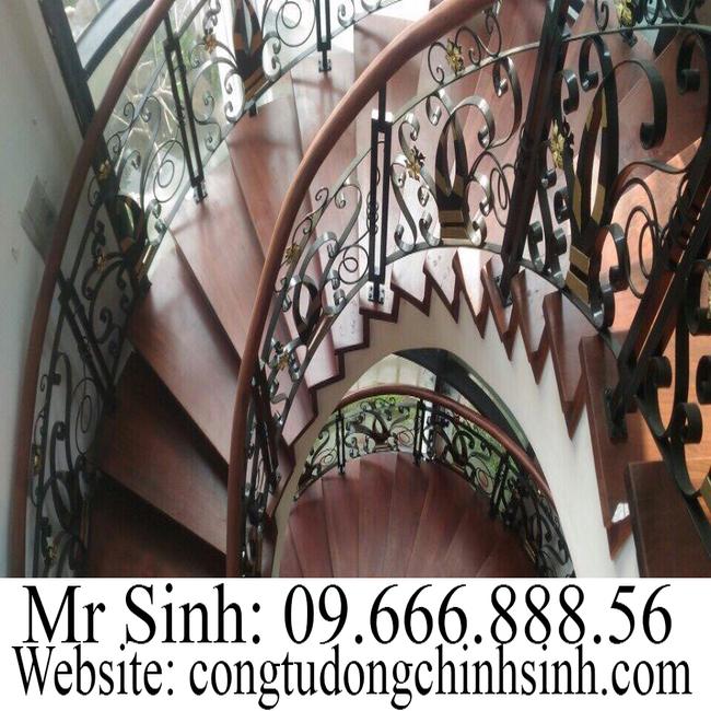 Cầu thang sắt nghệ thuật  - CT0033