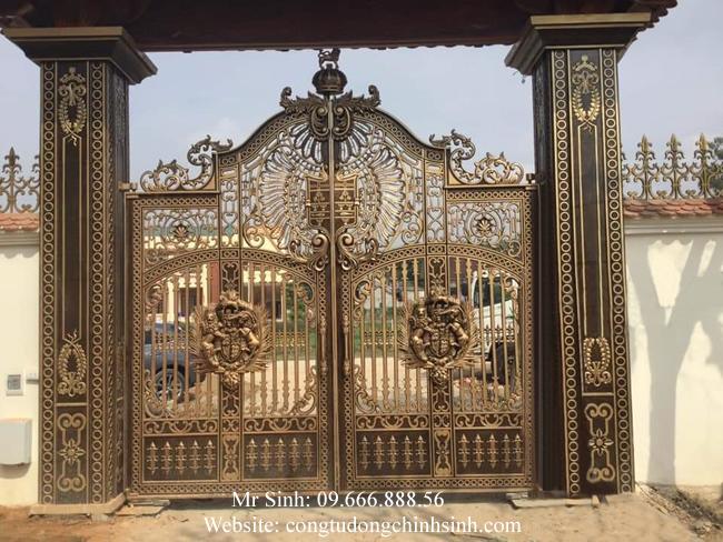 cổng nhôm đúc - C0074