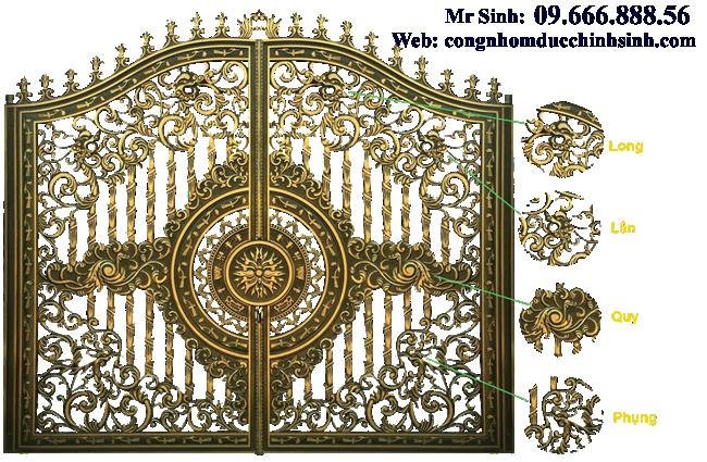 cổng nhôm đúc - C0083