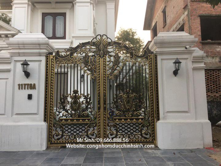 cổng nhôm đúc - C00139