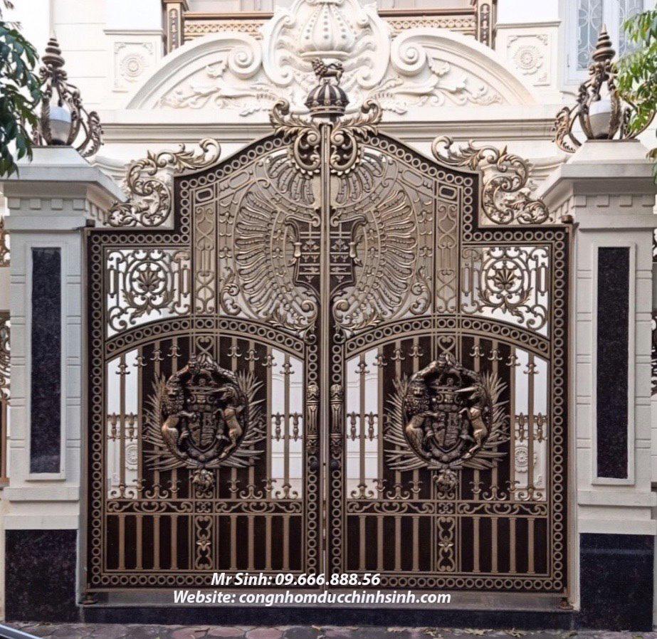 cổng nhôm đúc - C00141