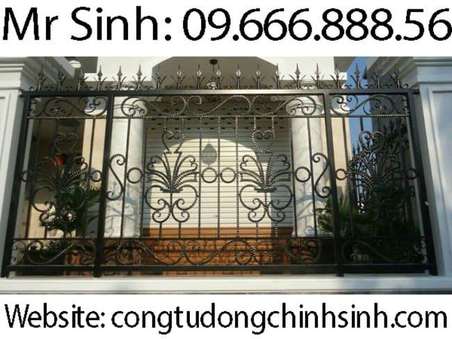 Hàng rào sắt mỹ thuật - HR104