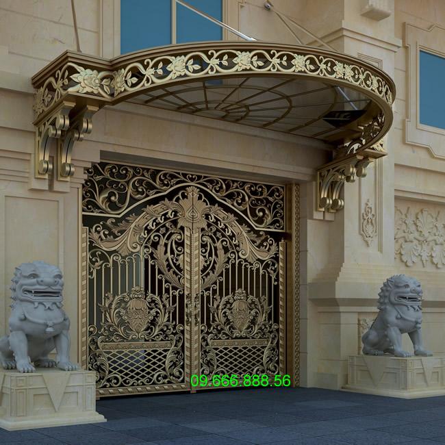 cổng nhôm đúc - C00133