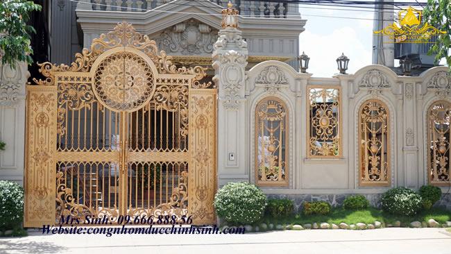 cổng nhôm đúc - C00100