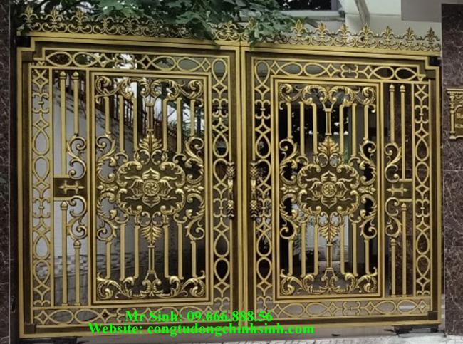 cổng nhôm đúc - C00129