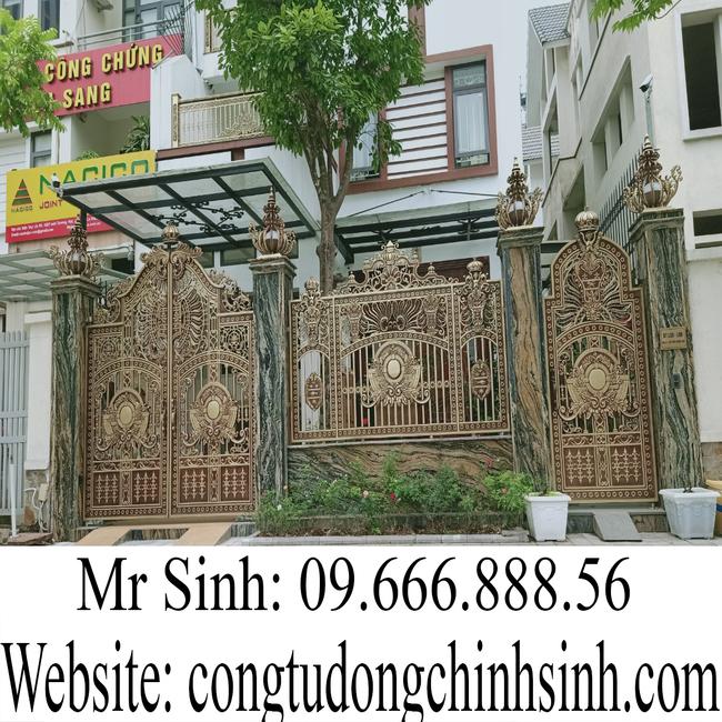 cổng nhôm đúc - C00154