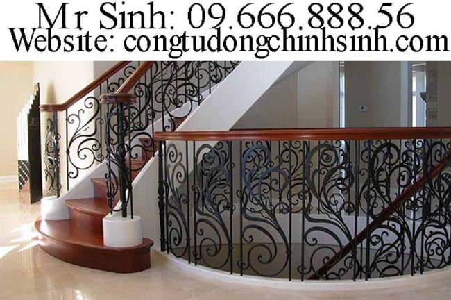 Cầu thang sắt nghệ thuật  - CT0038