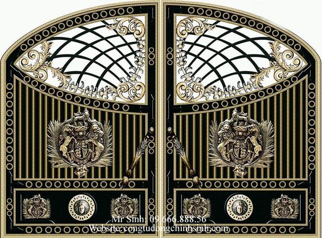 cổng nhôm đúc - C0073