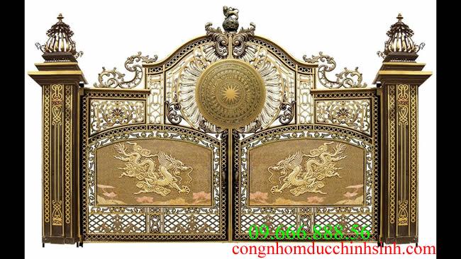 cổng nhôm đúc - C0066