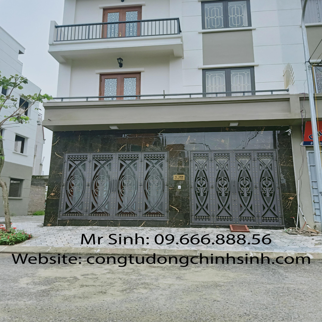Cổng hoa sắt mỹ thuật - C00154