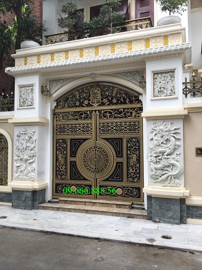 cổng nhôm đúc - C0067