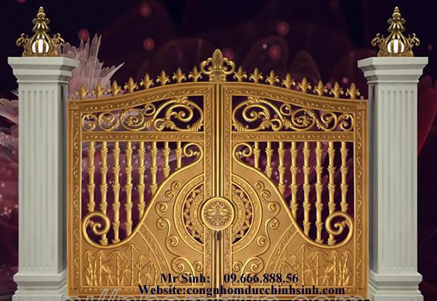 cổng nhôm đúc - C00119