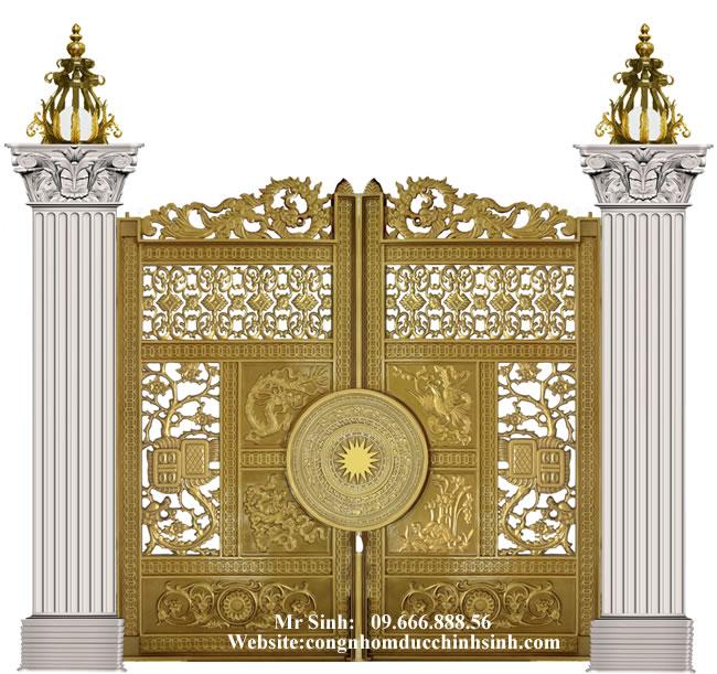 cổng nhôm đúc - C00118