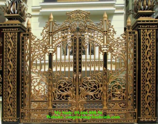 cổng nhôm đúc - C0088
