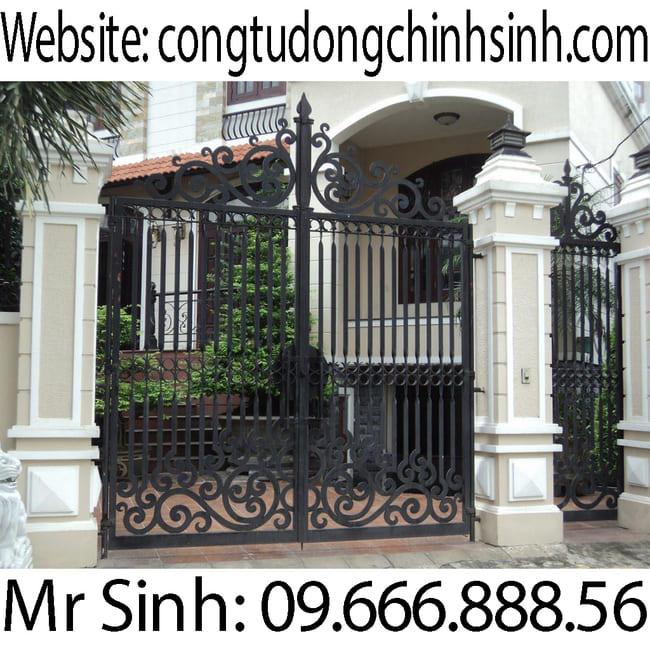 Cổng sắt mỹ thuật - C00187