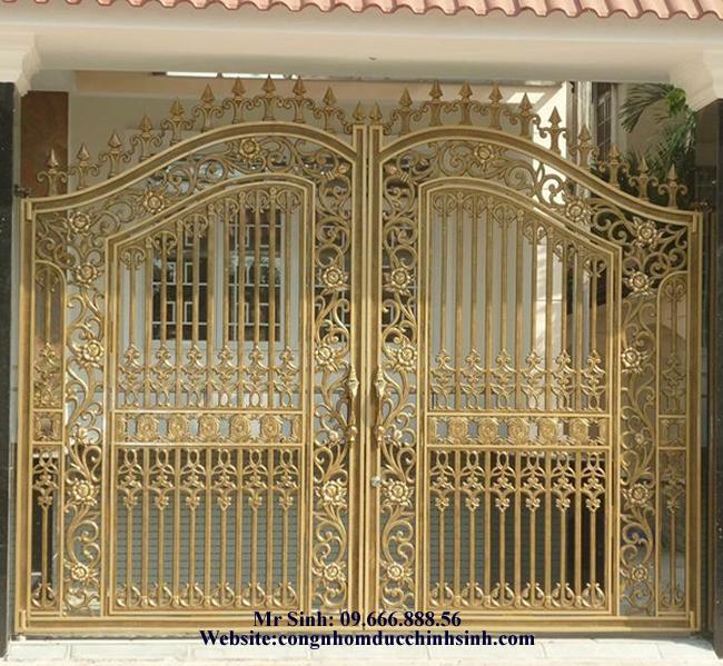 cổng nhôm đúc - C00117