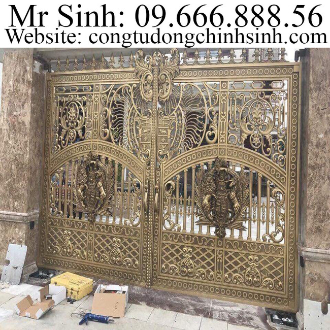 cổng nhôm đúc - C00176