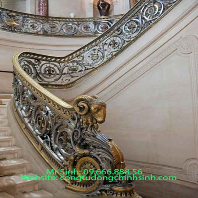 Cầu thang nhôm đúc - CT003