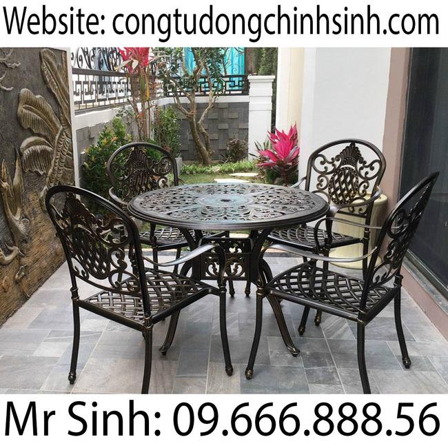 Bàn ghế nhôm đúc - BG005