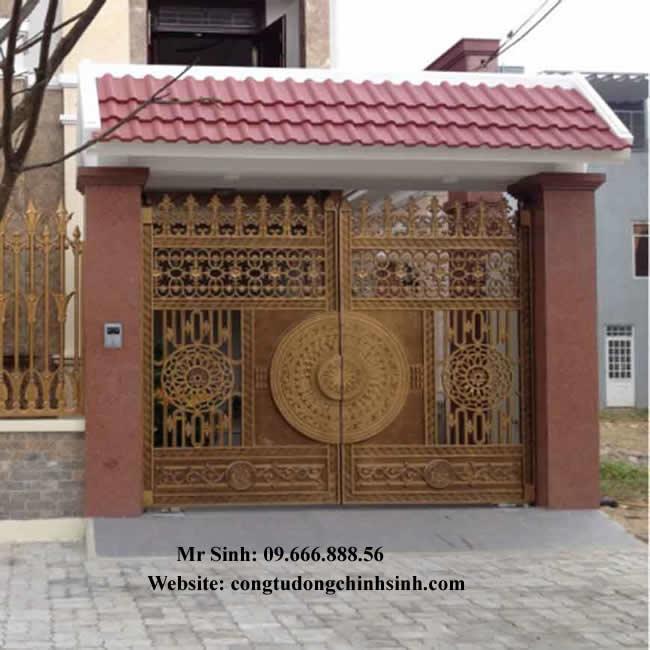 cổng nhôm đúc - C00106
