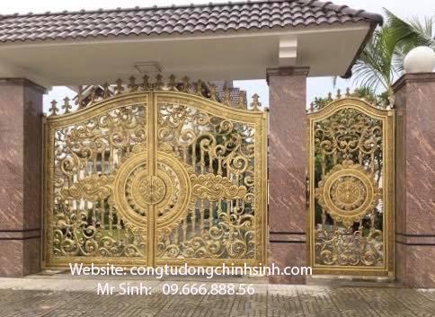 cổng nhôm đúc - C00137