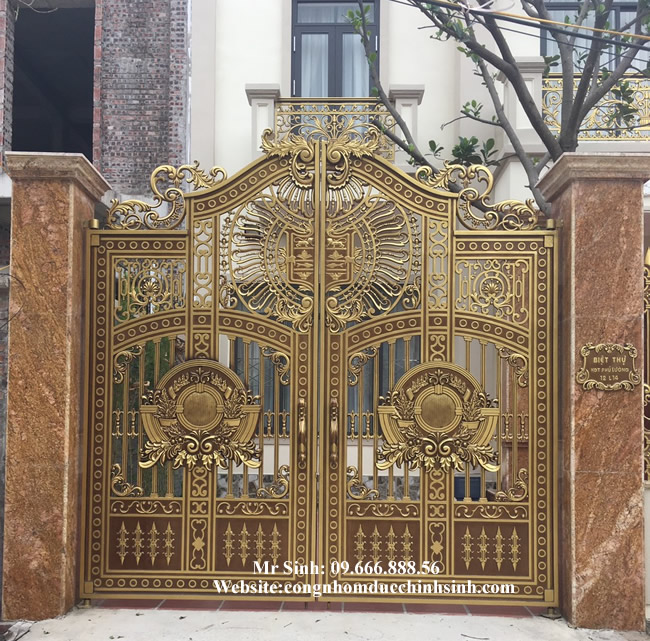 cổng nhôm đúc - C00116