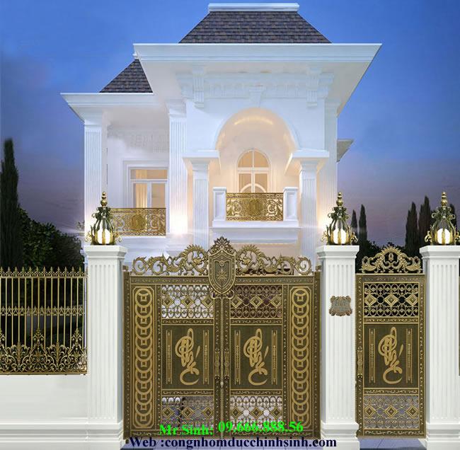 cổng nhôm đúc - C0081