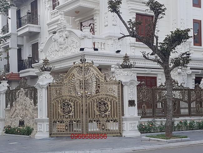 cổng nhôm đúc - C0037