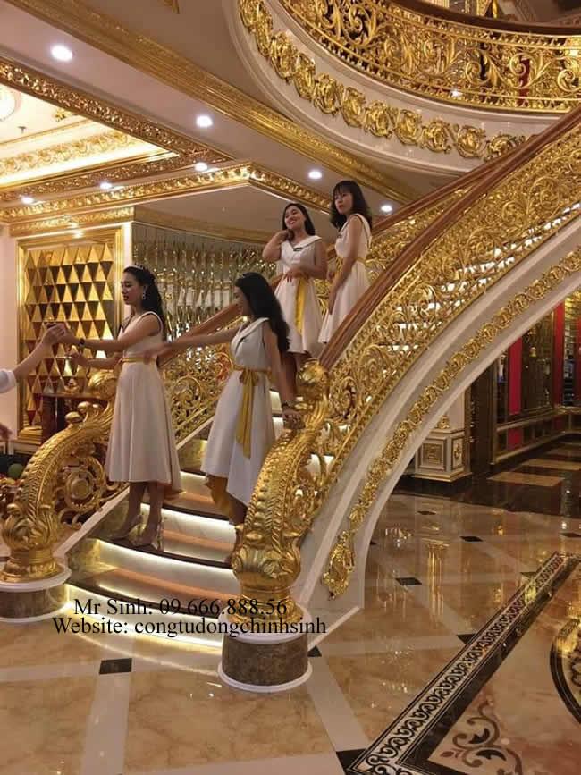 Cầu thang nhôm đúc - CT001