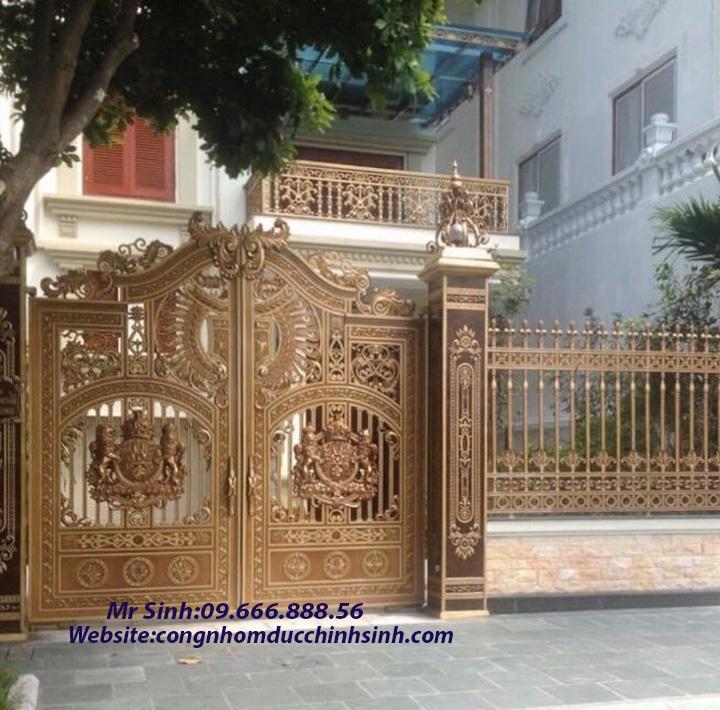 cổng nhôm đúc - C00152