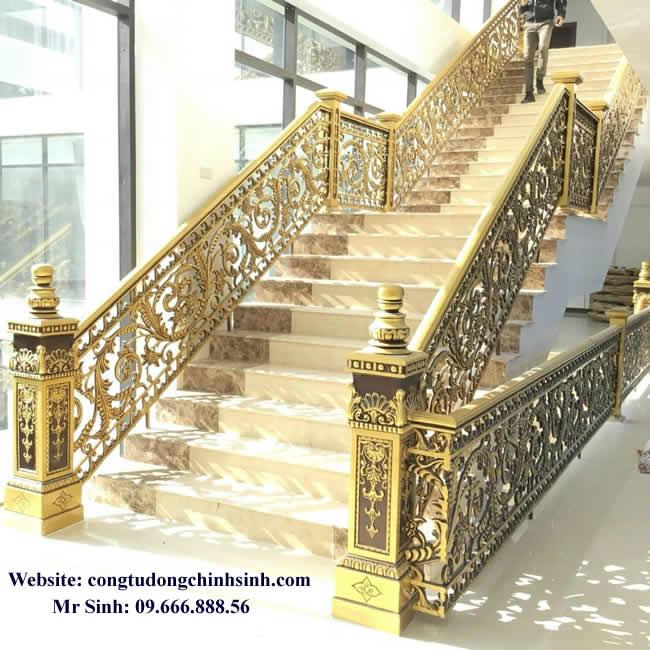 Cầu thang nhôm đúc - CT002