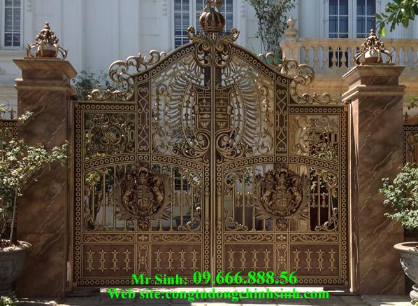 cổng nhôm đúc - C0078
