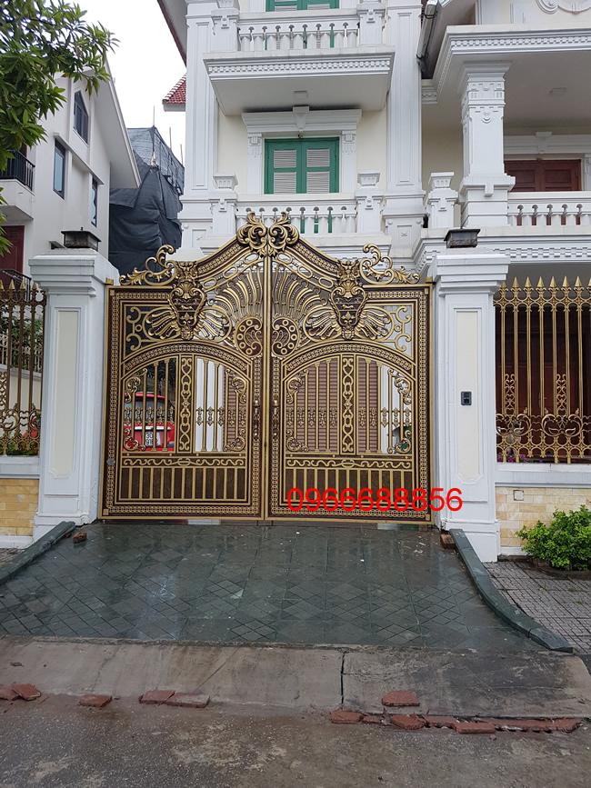 cổng nhôm đúc - C0045