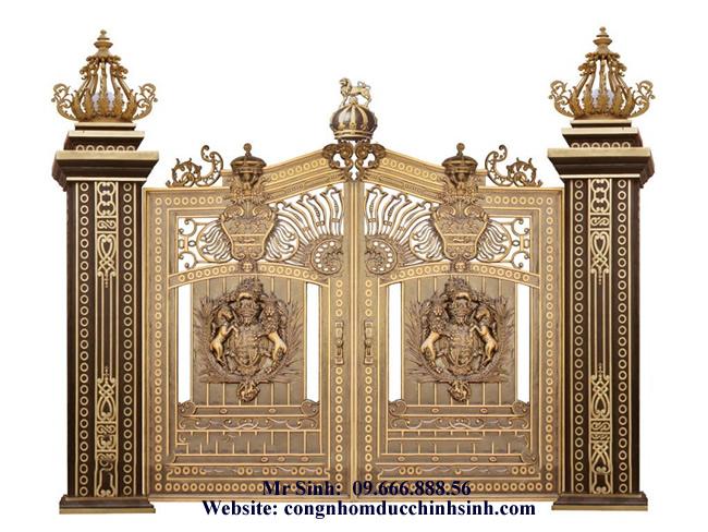 cổng nhôm đúc - C00107