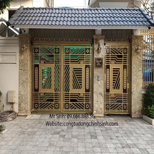 cổng nhôm đúc - C00128