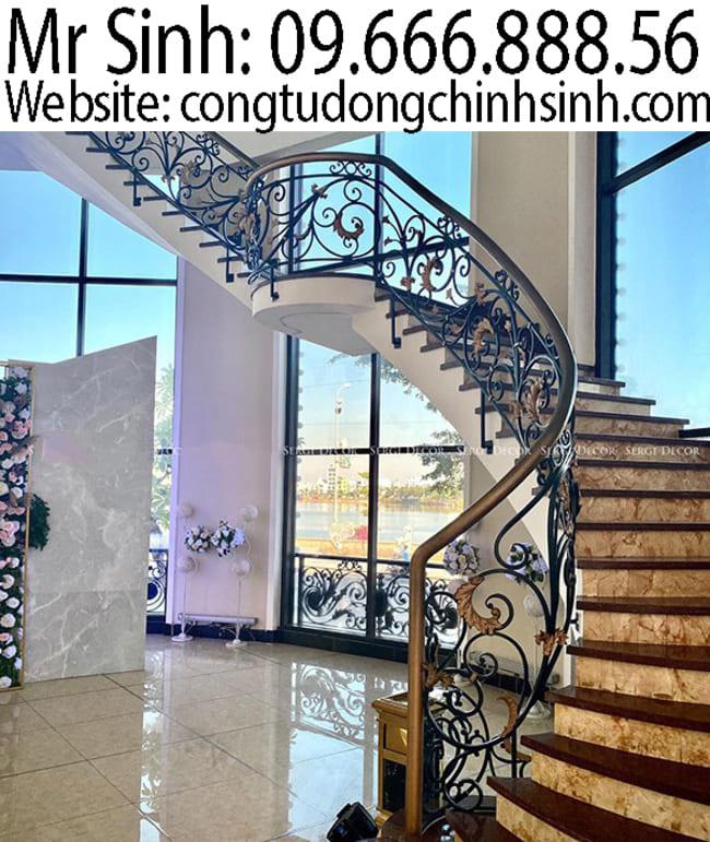 Cầu thang sắt nghệ thuật  - CT0035