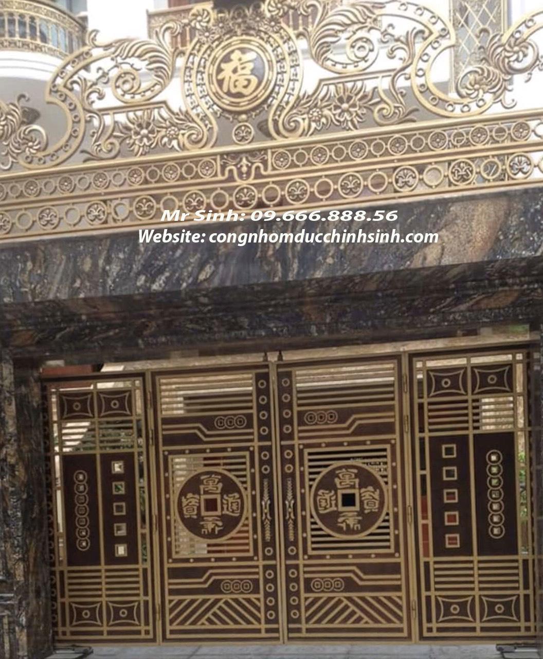 cổng nhôm đúc - C00143