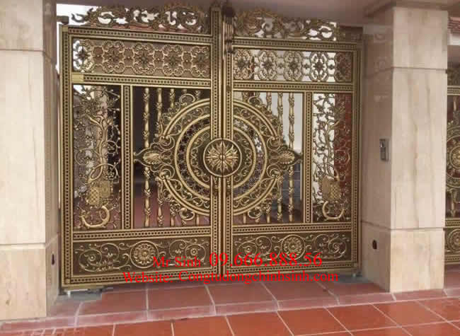 cổng nhôm đúc - C0076