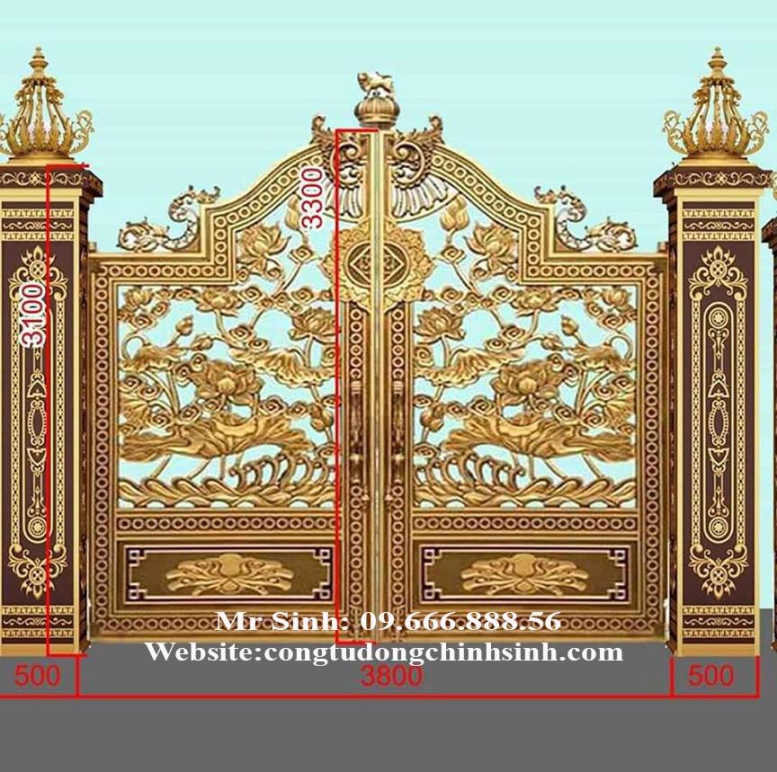 cổng nhôm đúc - C00159