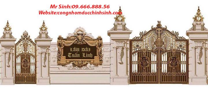 cổng nhôm đúc - C00151