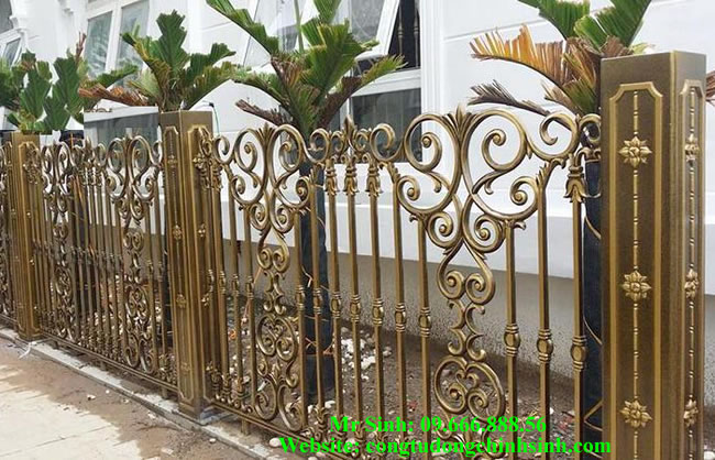 Hàng rào nhôm đúc - HR0043