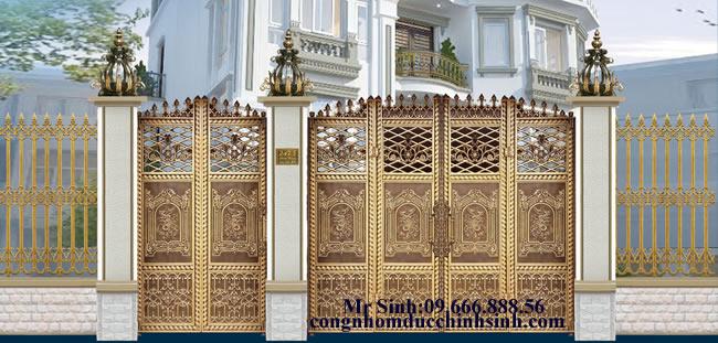 cổng nhôm đúc - C0098