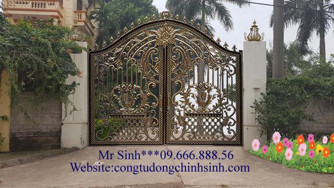 cổng nhôm đúc - C0065