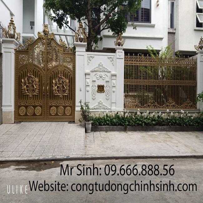 cổng nhôm đúc - C00153