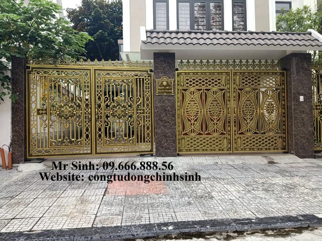 cổng nhôm đúc - C0091