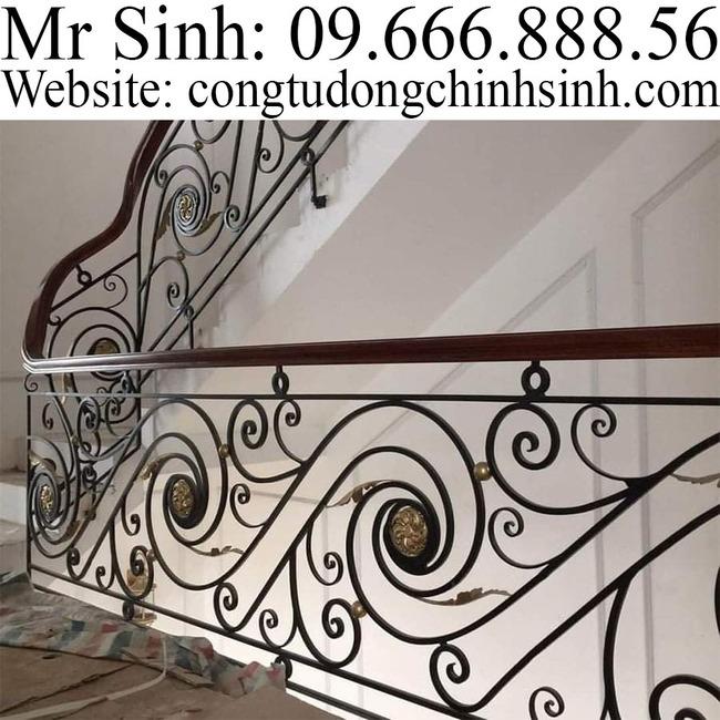 Cầu thang sắt nghệ thuật  - CT0031
