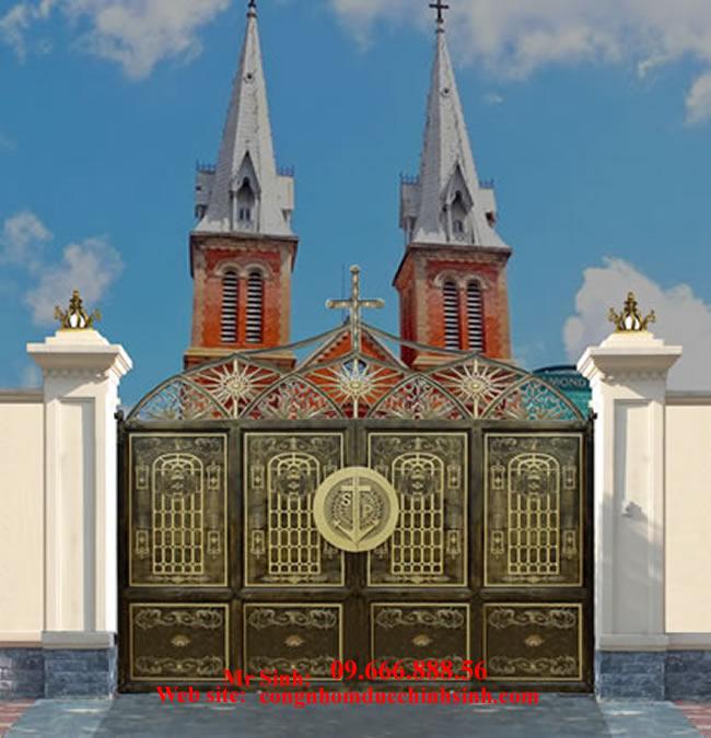 cổng nhôm đúc - C0082