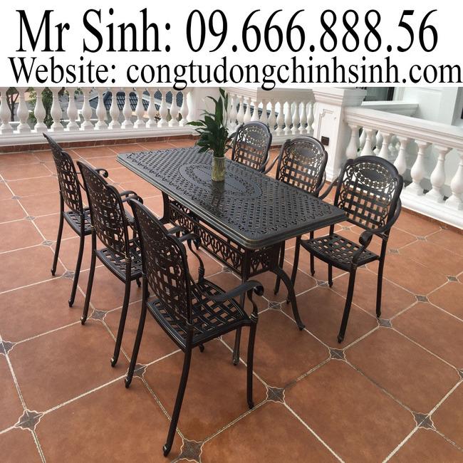 Bàn ghế nhôm đúc - BG002
