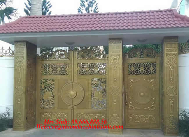 cổng nhôm đúc - C0099